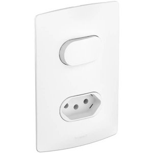 Interruptor Simples Com Tomada 10A Pial Nereya Legrand Conjunto 4x2