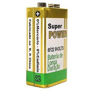 Bateria Pilha 9 Volts para Sensores de Alarme Sem Fio