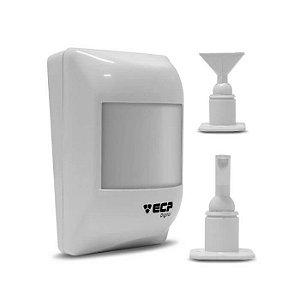Sensor De Alarme Ecp Infra Vermelho Com Fio Visory + Suporte