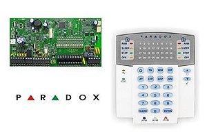 Kit Alarme Paradox SP7000 Teclado 32 Setores K32 Caixa Trafo 16V
