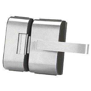 Fechadura Elétrica HDL PV90 2R-L Para Porta de Vidro com Puxador e Maçaneta (2 Folhas)