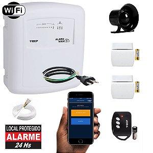 Alarme Wifi Residencial Internet App Iphone e Android 2 Sensores Abertura