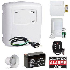 Kit Alarme Residencial ECP Sem Fio 2 Sensores Bateria e Sirene