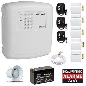 Kit Alarme Casa Discadora Ecp 5 Sensor Abertura 3 Controles