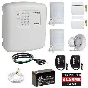 Kit Alarme Residencial ECP Discadora 4 Sensores Bateria Sirene Alard Max 4