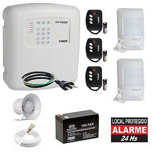 Kit Alarme Residencial com Discadora ECP 2 Sensores Presença