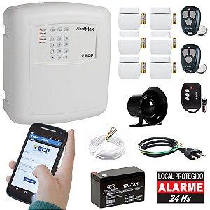 Kit Alarme Casa Gsm Chip Sem Fio 6 Sensores Alard Max 4