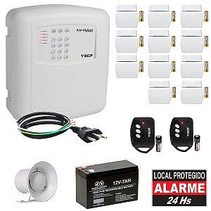 Kit Alarme Residencial ECP Com Discadora 11 Sensores Abertura Sem Fio