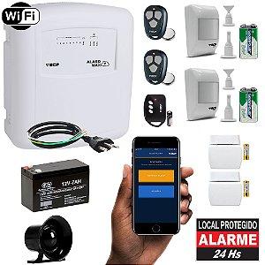 Kit Alarme Residencial Wireless Internet Wifi App 4 Sensores