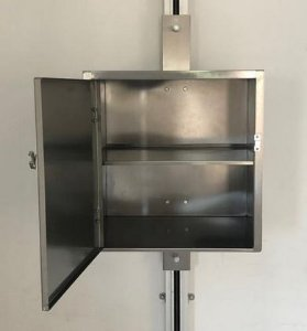 Cabine Para Elevador Monta Pratos Com Prateleira em Aço inox