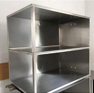 Cabine para elevador Monta Pratos com abertura frontal e lateral direita