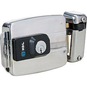 Fechadura Elétrica HDL C90 Dupla Aço Inox Portão Universal 12V