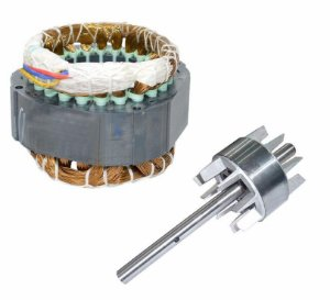 Estator Monofásico Rossi P28 110 Volts Para Motor Dz Nano Com Eixo