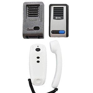 Kit Interfone HDL F8 SNTL AZ02 Porteiro Eletrônico + Protetor Externo