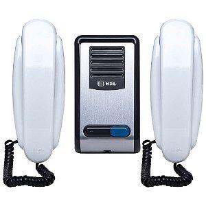 Kit Interfone Residencial HDL F8 SNTL + Monofone AZ01 (2 Pontos)