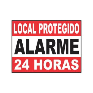 Placa Indicativa Local Protegido Alarme 24h