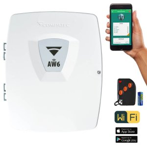 Central de Alarme Wifi App iPhone e Android Compatec AW6 Com 1 Controle Remoto