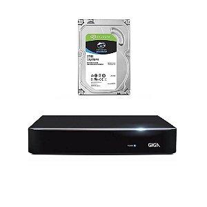DVR Giga 16 Canais Full HD GS0182 Com HD 2 TB Seagate Skyhawk