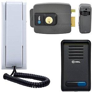 Interfone com Fechadura Elétrica HDL F8 SN Graphil + HDL C90