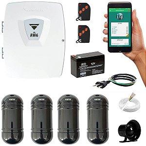 Alarme Wifi Com 2 Sensores de Barreira 120 Metros Externo + App