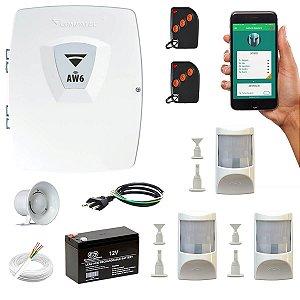 Alarme Residencial Wifi 3 Sensores Presença Com Fio PET Compatec
