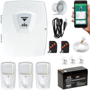 Kit Alarme Wifi Semi-Externo Com 3 Sensores Infra PET Compatec
