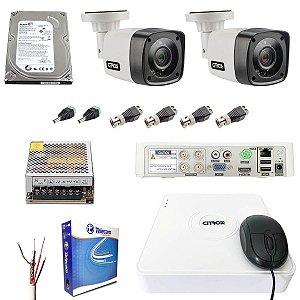 Kit 2 Câmeras de Segurança HD 720p Infravermelho 20m DVR Citrox