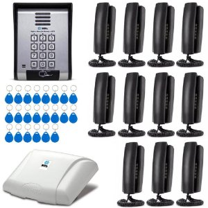 Interfone HDL 11 Apartamentos Condomínio Casas + Senha + RFID