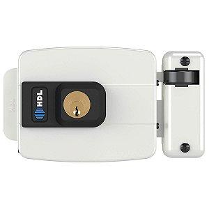Fechadura Elétrica HDL C90 Branca 12V Abre p/ Dentro 90.01.03.043