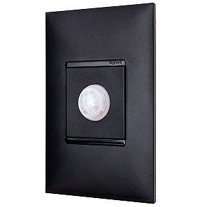 Sensor de Presença Com Fotocélula Preto Pial Plus+ Embutir Parede