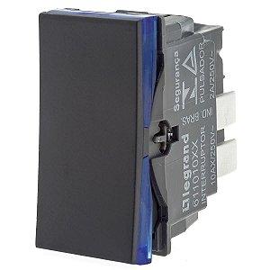 Interruptor Simples Preto Borne Auto. Pial Plus+ Legrand 611010PT