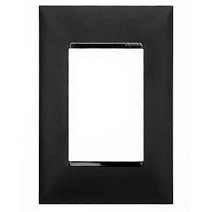 Espelho Pial Plus+ Placa 3 Postos 4x2 Legrand Preto 618503PT