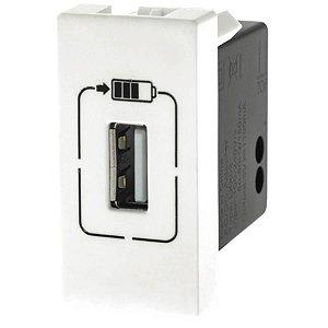 Módulo Tomada USB Pial Plus+ Legrand 1100mA Branco 615088BC