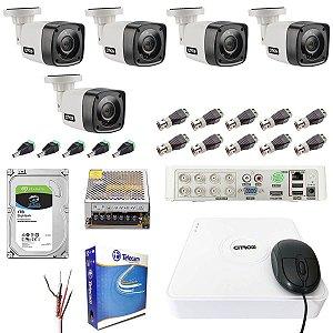 Kit Monitoramento Residencial Citrox 5 Câmeras 720p 1TB Skyhawk