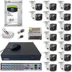 Kit DVR 16 Canais Citrox 720p Infra 20m HD 1TB Seagate Skyhawk