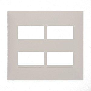 Placa 4x4 2+2 Postos Separados Pial Plus+ Legrand 618514BC