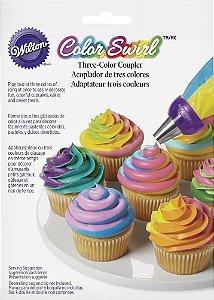Kit De Confeitar Tri Color Wilton Acoplador Decoração