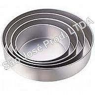 Conjunto Com 4 Formas Redondas Para Bolo Em Aluminio (8cm de altura)