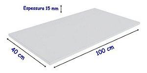 Tabua De Polietileno, para corte 100 Cm X 40 Cm X 15 mm