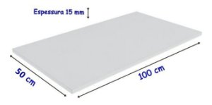 Tabua De Polietileno, para corte 100 Cm X 50 Cm X 15 mm