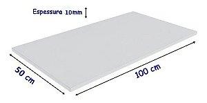 Tabua De Polietileno, para corte 100 Cm X 50 Cm X 10 mm