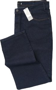 Calça Jeans Masculina Pierre Cardin Reta (Cintura Alta) - Ref. 487P958 - PLUS  SiZE - Algodão / Poliester / Elastano (Jeans Fino e Macio)