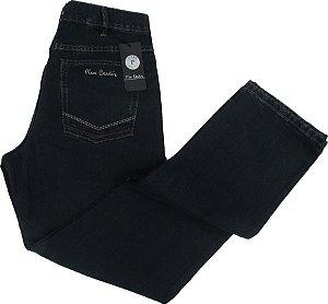Calça Jeans Masculina Pierre Cardin Reta (Cintura Média) - Ref. 454P840 AZUL  - 100% Algodão