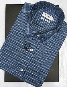 Camisa Dimarsi - Com Bolso - Manga Curta - Algodão Egípcio - Ref. 8931 Xadrez
