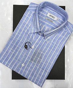 Camisa Dimarsi - Com Bolso - Manga Curta - Algodão Egípcio - Ref. 8959 Xadrez