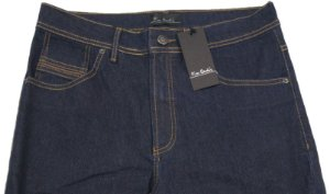 Calça Jeans Masculina Pierre Cardin Reta (Cintura Alta) - Ref. 467P008 Azul - Algodão / Poliester / Elastano (Jeans Fino e Macio)