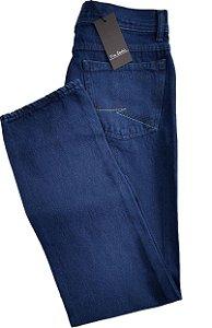 Calça Jeans Masculina Pierre Cardin Reta Tradicional Cintura Alta - Ref. 463P141 - 100% Algodão