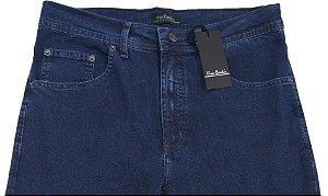 Calça Jeans Masculina Pierre Cardin Reta (Cintura Alta) - Ref. 467P395 Azul - Algodão / Poliester / Elastano (Jeans Fino e Macio)