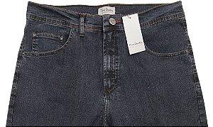 Calça Jeans Masculina Pierre Cardin Reta (Cintura Alta) - Ref. 467P389 Grafite - Algodão / Poliester / Elastano (Jeans Fino e Macio)