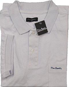 Camisa Polo Pierre Cardin Com Bolso - Manga Curta  - 100% Algodão- Ref 10075 Branca